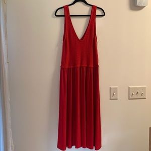 Zara Midi Length Red Dress